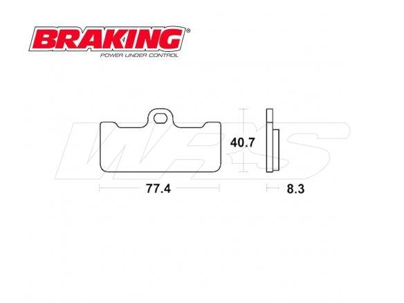 SET PASTIGLIE ANTERIORI BRAKING P1R APRILIA GP 125 1995-2000