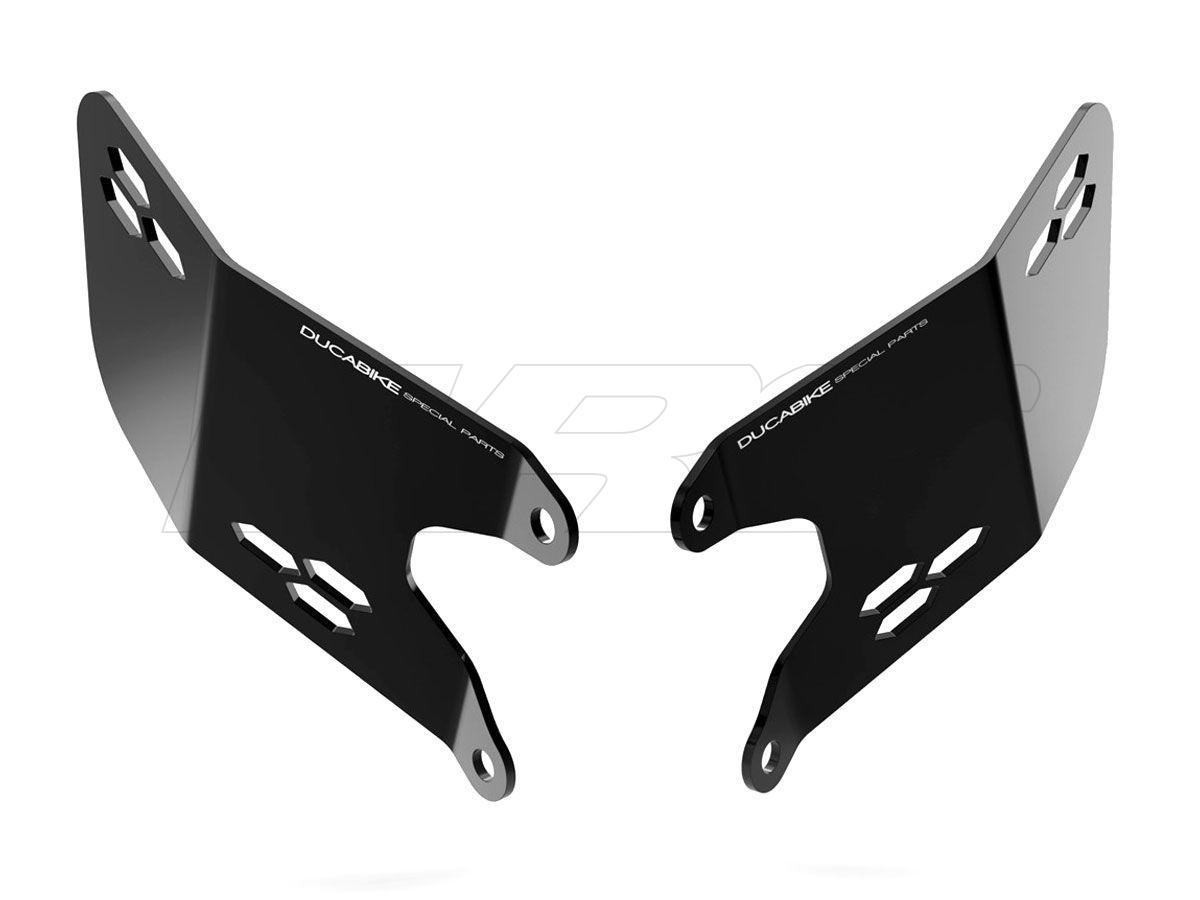 Black SP Frame Plug Caps Ducabike Ducati Hypermotard 950