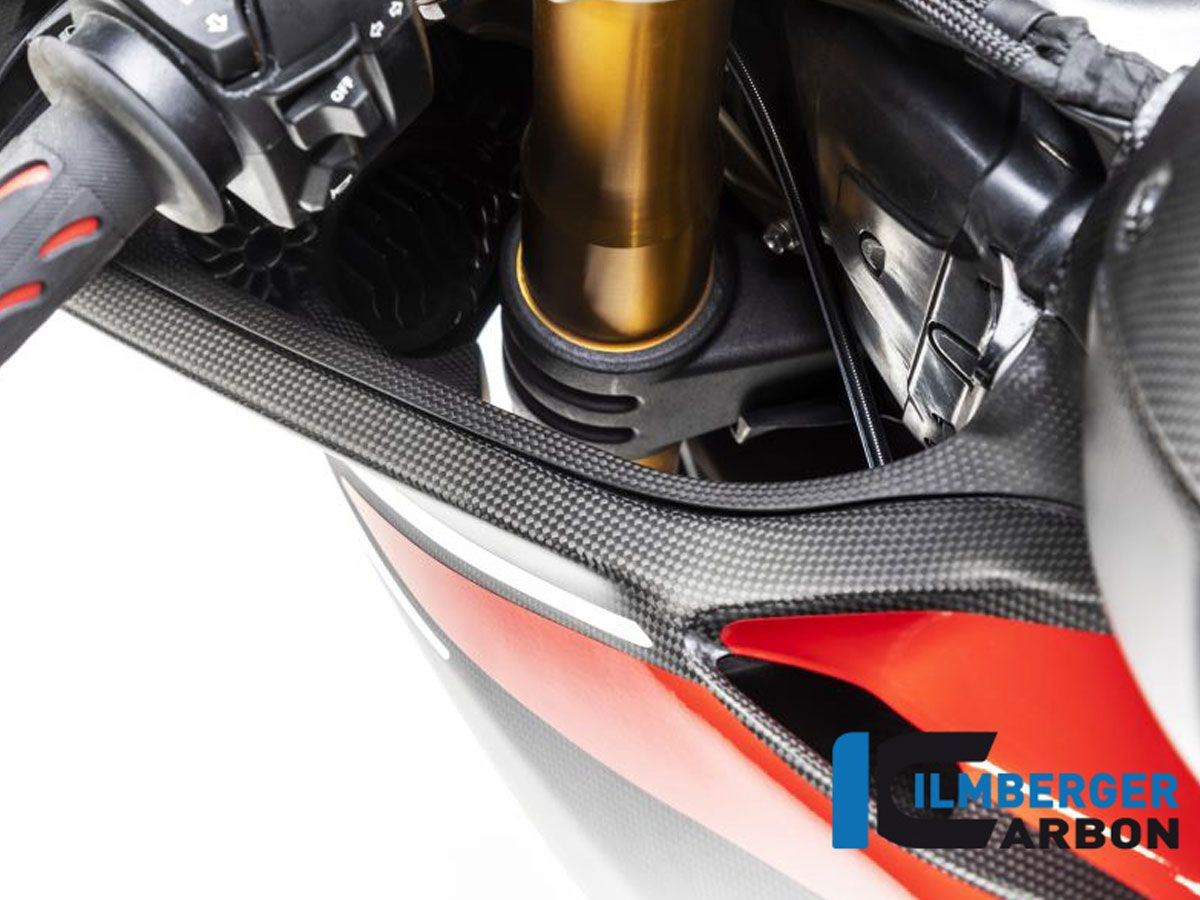 AIR TUBE COVER LEFT MATT CARBON ILMBERGER DUCATI PANIGALE V4 R 2019-2020
