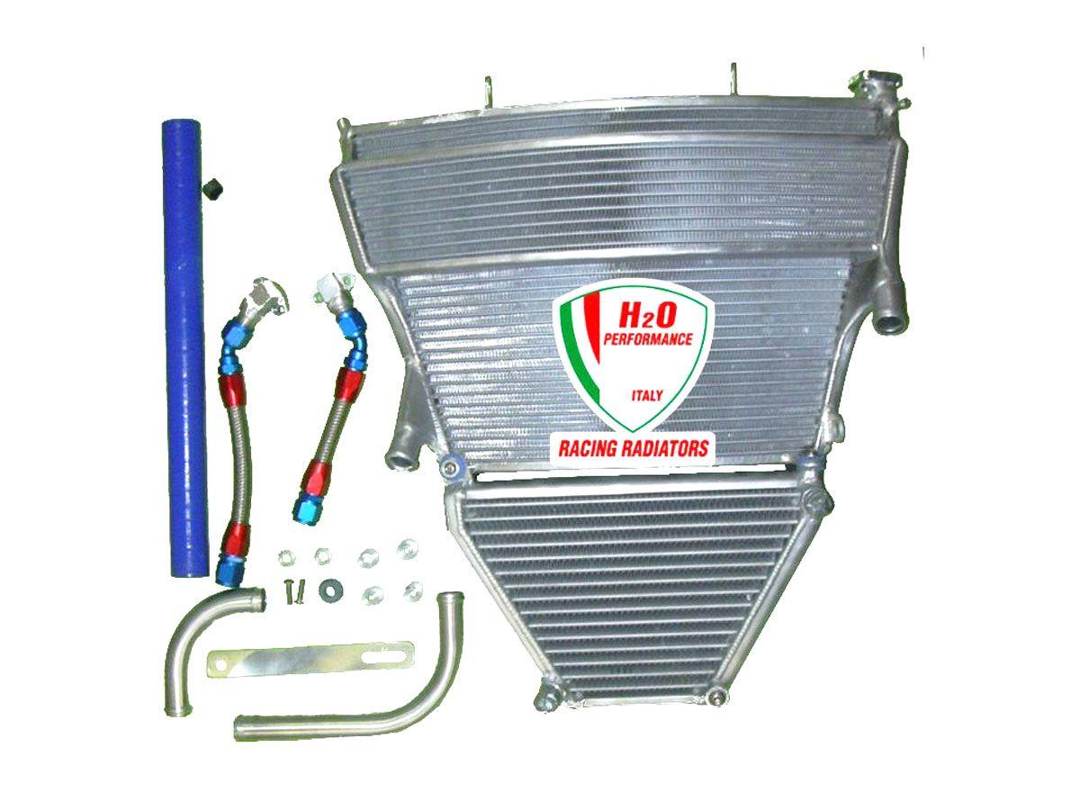 H2O PERFORMANCE OVERSIZED WATER + OIL RADIATOR SUZUKI GSX-R 1000 2005-2006
