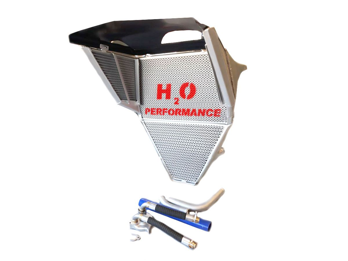 "H2O PERFORMANCE ""SERIE EVO"" OVERSIZED WATER + OIL RADIATOR YAMAHA YZF-R6 2017"