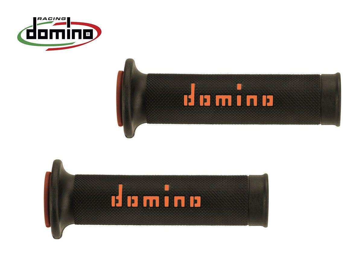 DOMINO GRIPS PAIR DIAMETER 20-24 BLACK-ARANCIO