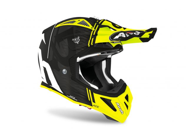 CASCO AIROH AVIATOR ACE KYBON YELLOW MATT