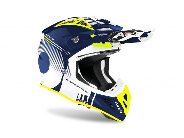CASCO AIROH AVIATOR ACE NEMESI BLUE GLOSS