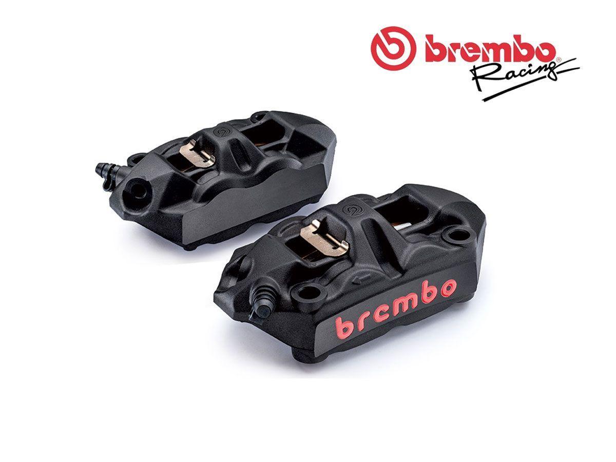 220a39750 Radial Brake Calipers Kit M4 Black Brembo Racing Monoblock 108mm Pads