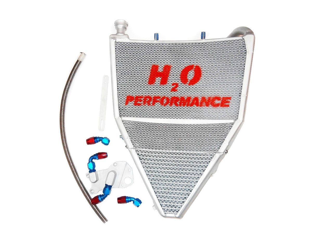 H2O PERFORMANCE OVERSIZED WATER RADIATOR + OIL TRIUMPH DAYTONA 675