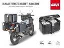 DLM46B GIVI MOTORCYCLE TOP CASE TREKKER DOLOMITI 46LT BLACK ALUMINUM MONOKEY