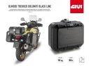 DLM30B GIVI MOTORCYCLE CASE PIANNER TREKKER DOLOMITI 30LT BLACK ALUMINUM MONOKEY