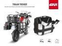 TRK46N GIVI PAIR PANNIERS MOTORCYCLE TREKKER 46LT ALUMINUM MONOKEY