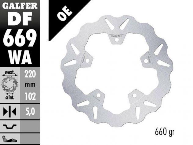 DF669WA GALFER REAR FIXED DISC...