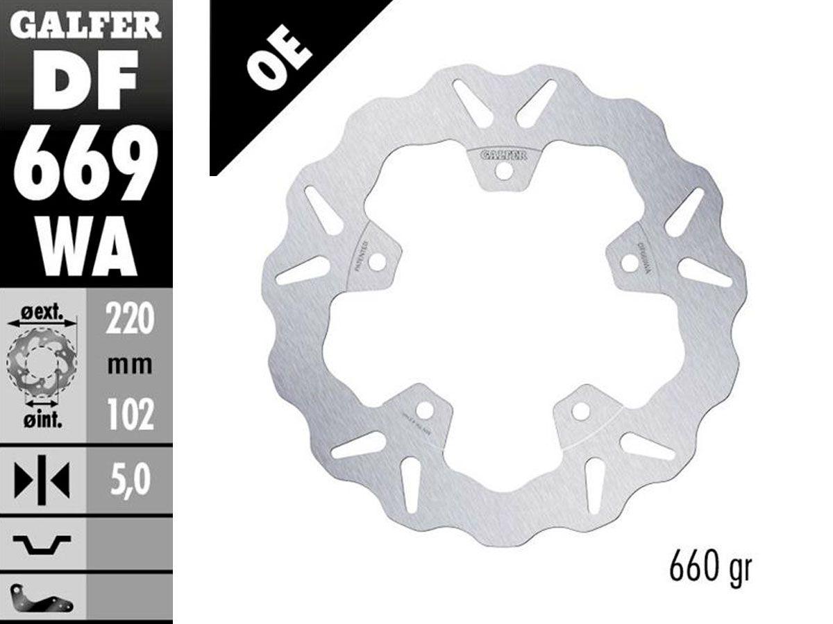 DF669WA GALFER REAR FIXED DISC APRILIA RSV4 RR 2017-2020