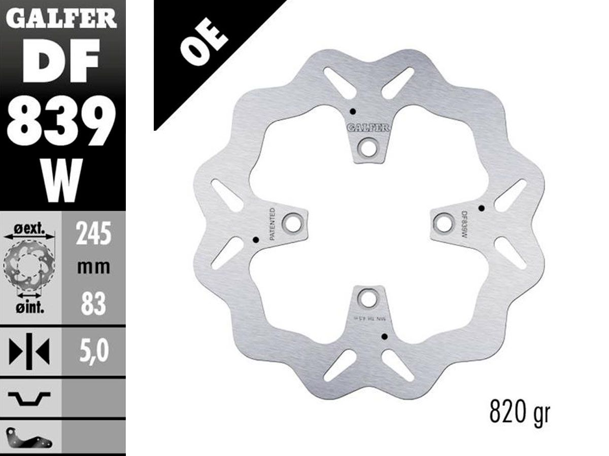 DF839W GALFER FRONT FIXED DISC DUCATI PANIGALE 1299 / 1199