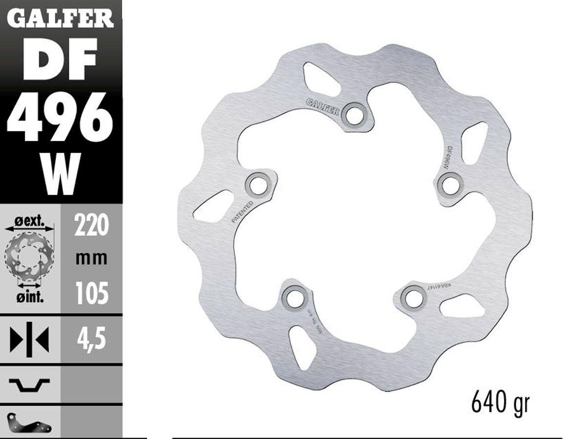 DF496W GALFER REAR FIXED DISC YAMAHA R1 / M 2015-2019