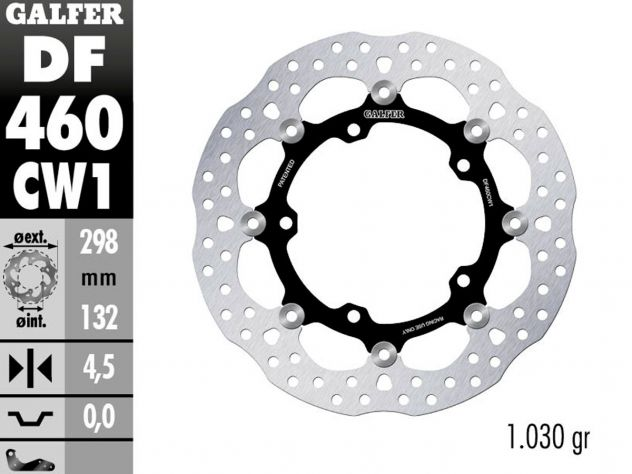 DF460CW1 GALFER FRONT FLOATING DISC...