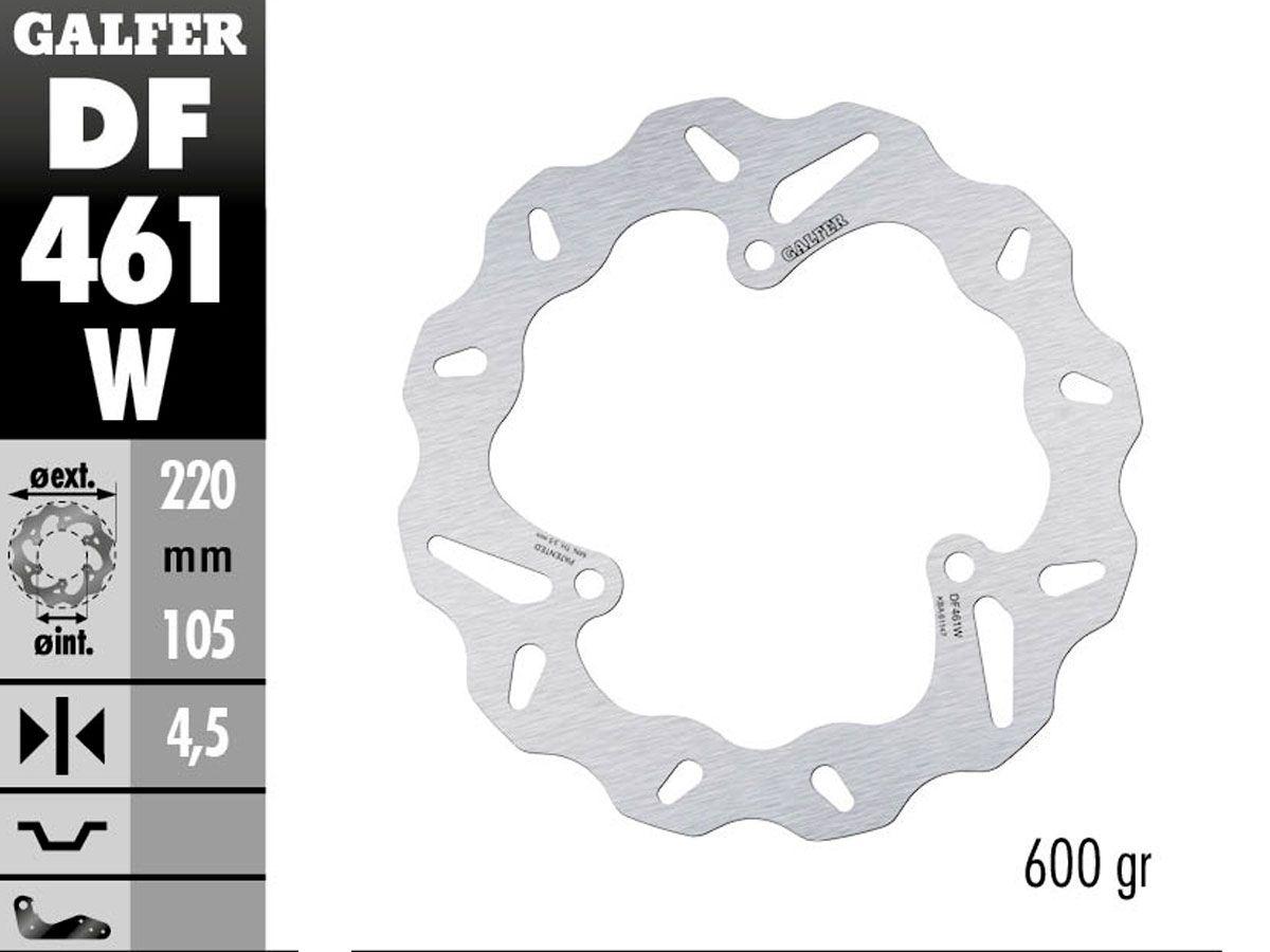 DF461W GALFER REAR FIXED DISC YAMAHA R3 2015-2020